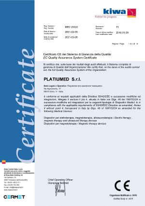 Certificado Calidad CE